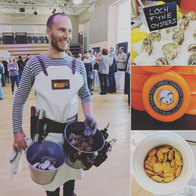 Oysterman, Loch Fyne oysters, Damn Fine Cheese and The Drinks Bakery were some of the artisan producers at last year's Fizz Feast