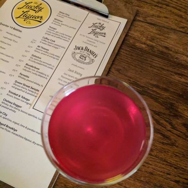 Look at that colour! It has the gorgeous pink of the Jack Rose, a classic cocktail made with apple-jack and grenadine.