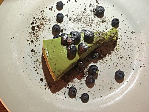 The avocado and lime cheesecake