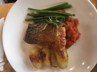 Our literary lunch of roast loin of cod