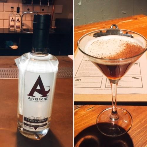 Nitro Cold Brew Martini made with Arbikie Potato Vodka