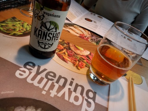 Kansho beer brewed by Meantime and Wagamama
