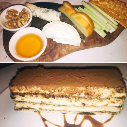 Desserts - The Cheese Board and Gusto Tiramisu