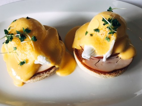 Heaven on a Sunday Morning - The Highland Breakfast of Eggs Benedict with smoked chicken