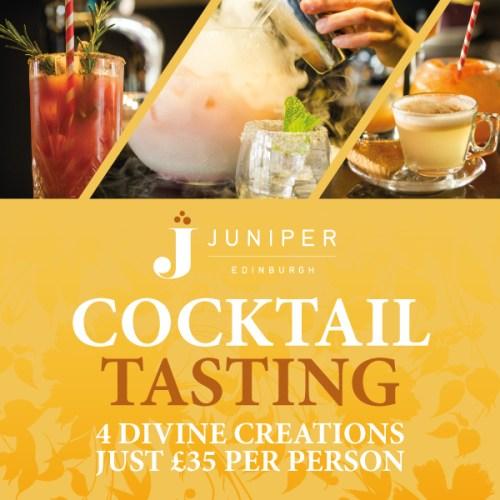 Cocktail tasting at Juniper