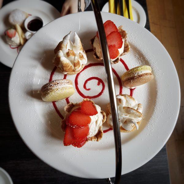 Top tier: desserts. That macaron was amazing.