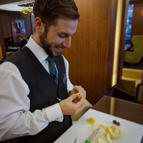 Aesthetics are important: Scott shows us three ways with lemon peel.