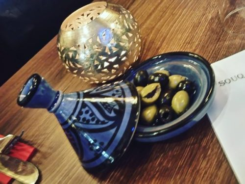 Mini tagine of olives