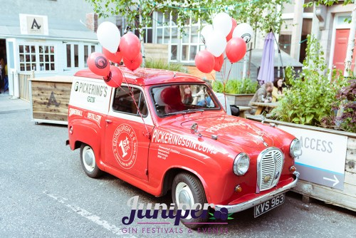 The Pickering's Gin Van at its home at Summerhall at the annual Juniper Festival