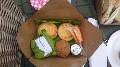 Quiches and Scotch egg box