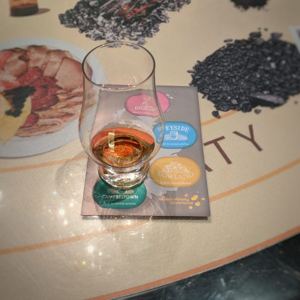 The tour ends with a whisky tasting: I, true to form, chose an islay malt.
