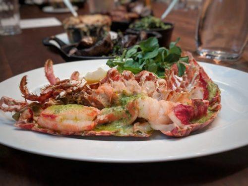 Surf. Half a lobster. Totes delish.
