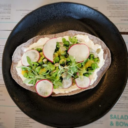 And the winner is... It wasn't a competition but the pea, mint and ricotta tostada was the night's hero dish.