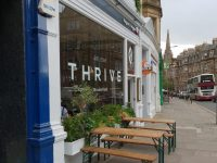 Thrive, on what I now call Bruntsfield Terrace's veggie corner.