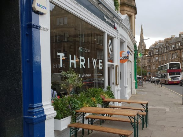 Thrive – enticing veggie/vegan restaurant bar in Bruntsfield