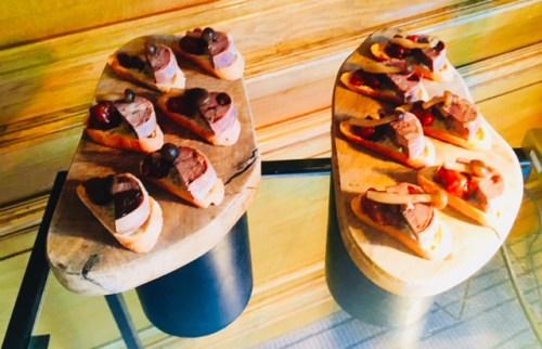 Bite-size versions of the Highland game terrine, spiced fruit chutney, pickled mushroom