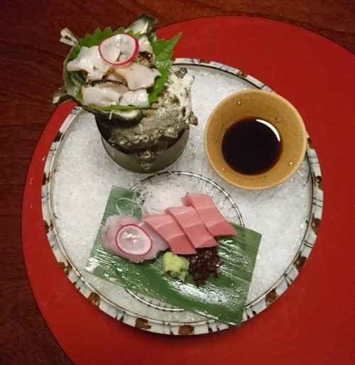 Turban shell sashimi