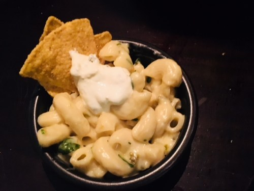 Mac n cheese - fabulous bar bites at Juniper Edinburgh
