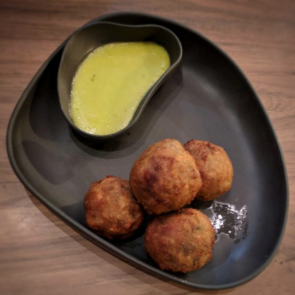 Arancini! These are huge on mushrooms and rice umami. Perfect for a cold night. Great with a good red.