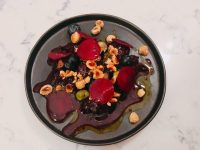 The star dish was a roasted beetroot, with hazelnuts and curd cheese