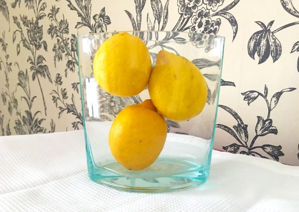 Lemons - full of vitamin C, zesty and colourful. They liven up drinks and food.