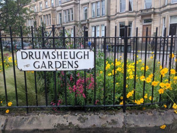Drumsheugh Gardens in bloom.