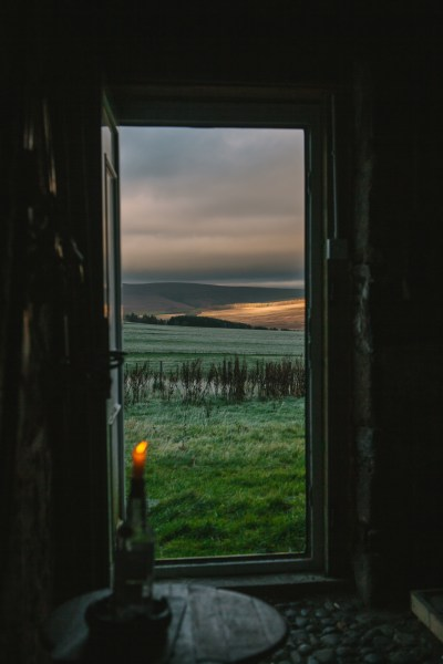 The magnificient view from Ghillie Basan's rural retreat help to inspire her new book