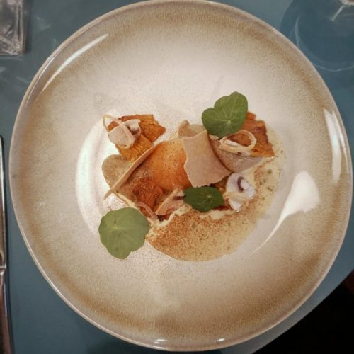 Mushroom, egg and buckwheat. Delicate, unctious and moreish.