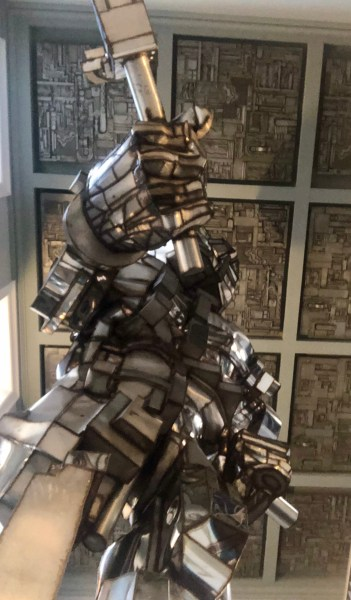 Paolozzi's Vulcan is the impressive dining backdrop