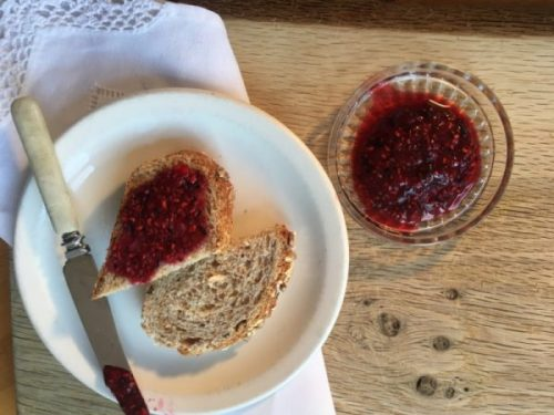Fruit chia jam: easy and natural.
