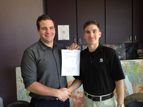Jon and me with my Private Certificate