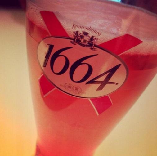 Bière rosé 1664 kronenbourg