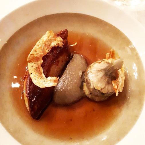 foie gras artichaut diner à la mère brazier mathieu viannay lyon