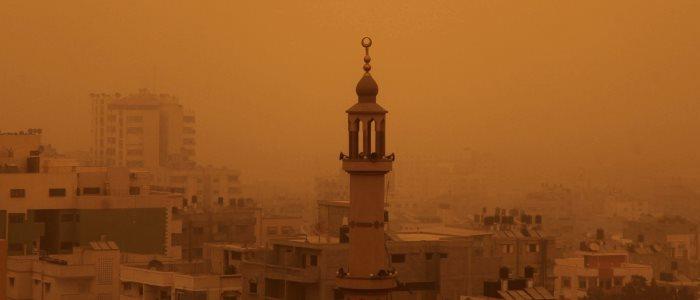 Gaza dust storm 2015