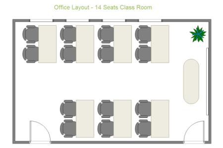 14 seats cl room