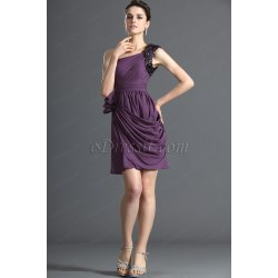 Winsome Edressit One Shoulder Purple Cocktail Dress Party Dress Edressit One Shoulder Purple Cocktail Dress Party Dress Purple Cocktail Dresses French Me Purple Cocktail Dresses Women wedding dress Purple Cocktail Dresses