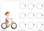 Trazos circulares. Fichas de Grafomotricidad