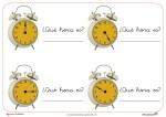 Recursos para el aula: ¿Qué hora es?