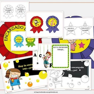 El encargado Recursos para el aula: Carteles de encargado de la clase   El Portal de Educapeques