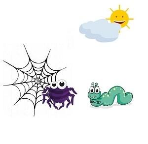 el gusano y la araña