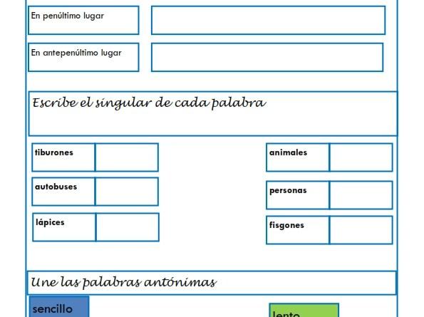 ejercicios lengua cuarto primaria - 28 images - ejercicios de lengua ...