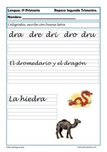 ejercicios lengua primero primaria 07