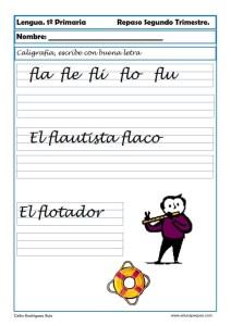 ejercicios lengua primero primaria 10