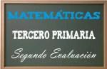 Matemáticas Tercero Primaria 2