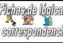 Fichas de infantil de lógica y correspondencia