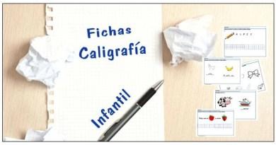 Fichas de caligrafía para infantil