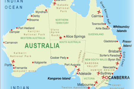 big map herbaria location australian
