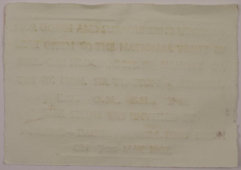 Ebbor Gorge Watermark - Rag Paper - 30x21cm - April 2011