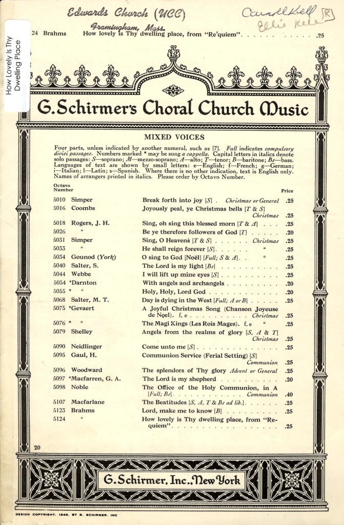 Satb Sermons Categories Music At Edwards Church