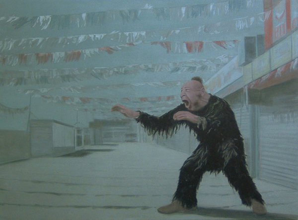 Zip, 2004, acrylic on canvas, 140x190 cm